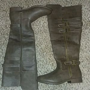 NWOT JustFab Knee High Brown Boots Size 8.5